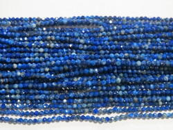 Lapis Lazuli Faceted Round Stone Beads
