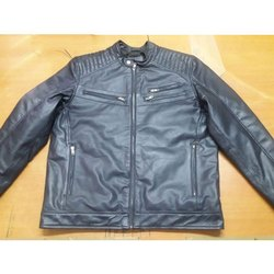 Round Casual Wear Leather Jacket
