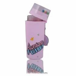 Crya Pink Icy Dicey Sipper Glass School Water Bottle