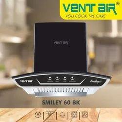 Smiley 60 BK Ventair Kitchen Chimney