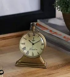 Vintage Brass Trophy Stand Table Clock