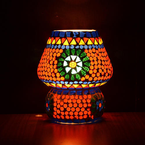 Mosaic Handmade Decorative Colorful Glass Electric Table Lamp