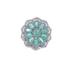 Emerald Gemstone Silver Ring