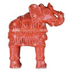 Terracotta Elephant Statue