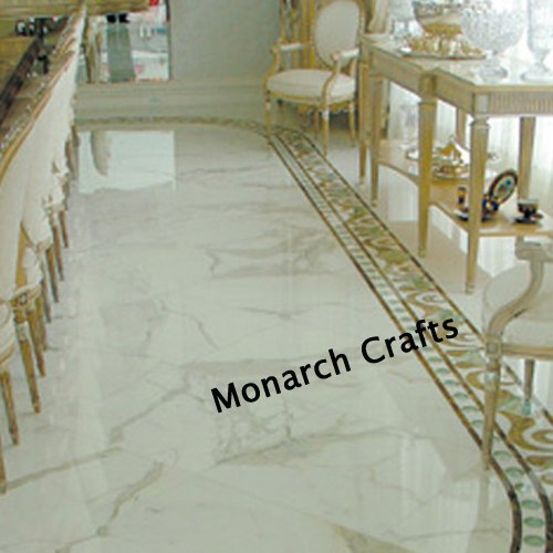 Pink Marble Borders Tile Thickness 17 Mm For Flooring