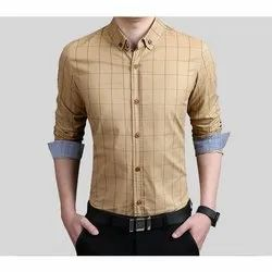 Nishant Cotton Men Check Formal Shirt, Size: 38-44, Packaging Type: Packet