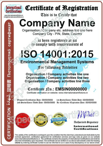 ISO 14001:2015 Certification for Environmental Management Systems