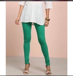 Ladies Cotton Lycra Plain Leggings
