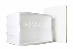 White Plain Rectangular Thermocol EPS Box
