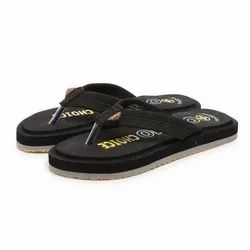 Mens Black Casual EVA Slippers