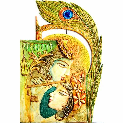 radha krishna mural deewar bhitti chitra shrusti designs