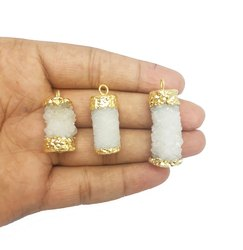 Druzy Gold Charms