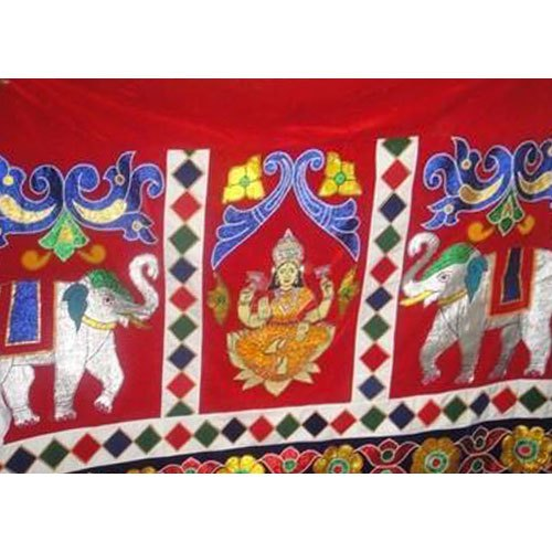 Cotton Temple Velvet Curtain, Size: 4.5*3 M