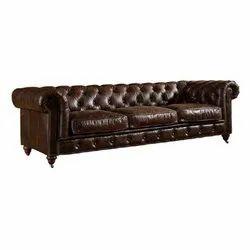 Juggernaut India Chesterfield Life Style Leather Sofa