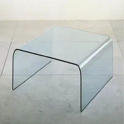 Rectangular Bent Glass, Thickness: 10-12 Mm, For Handrails,Revolving Doors