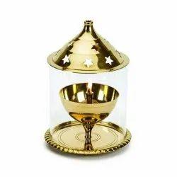 Brass Golden Akhanda Diya
