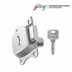 Godrej Curvo Drawer Lock, Chrome