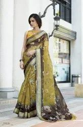 Designer Exclusive Organza Digital Print Saree