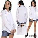 Speak Full Sleeves Cotton Plain Shirt For Ladies