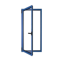 Blue Aluminum Door