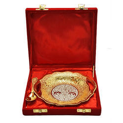 Silver and Gold Plated Traditional Platter