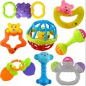 Non Toxic 8 In 1 Rattle Set Baby Toy, Packaging Type: Packet