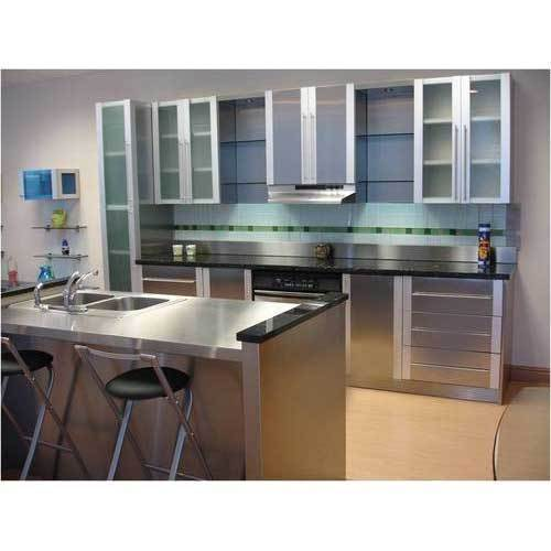 Silver Stainless Steel Modular Kitchen Cabinets Rs 300 Kilogram Id 19995719091