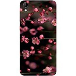 Casotec Pink Flowers Design Hard Back Case Cover