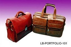 Pink And Brown Synthetic Leather LB- Portfolio - 101