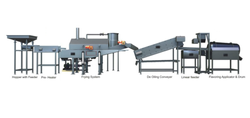 Fully Automatic Snack Fryums Frying Line