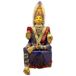 Brass 5-6 Inch Varalakshmi Ammavari Statue, for Worship