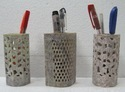 Handmade  Decorative Soapstone Pen Holder