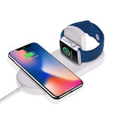 2 In 1 Iphone And Apple Watch Wireless Charger, All Qi Devices