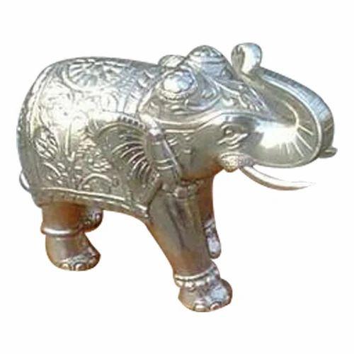 Metal Silver Elephant Statues