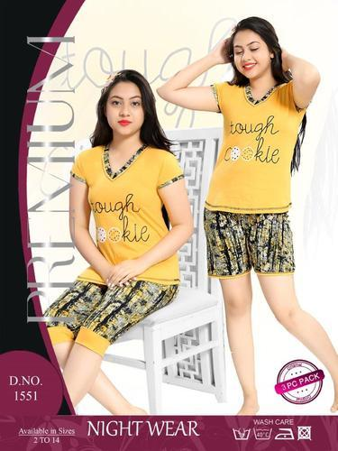 c131f41092 Girls Cotton Fashionable Nightwear 2 Piece
