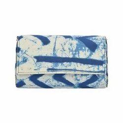 Azzra Blue Indigo Fabric Clutch