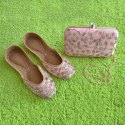 Pink Punjabi Jutti with Matching Clutch