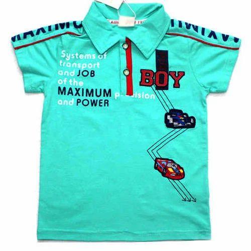 469efc98263f Cotton Kids Collar T-Shirt, Rs 200 /piece, Greenman Export   ID ...