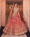 Ladies Red Bridal Lehenga
