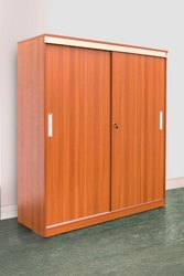 Brown Wooden Bold Bella Volga 2 Door Sliding Wardrobe for Home