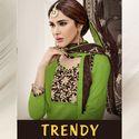 Multicolor Female Alpha Textile Trendy Dress Material