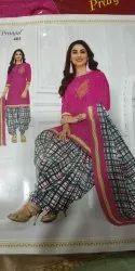 Printed Pink Ladies Readymade Dress