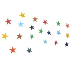 Woodennxt  Handicraft Wall Decor Stars Set Of 20