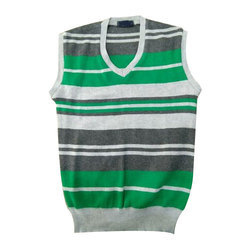 Multicolor Mens Sleeveless Sweater