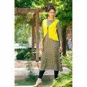 Ladies Rayon Jacket Style Kurti