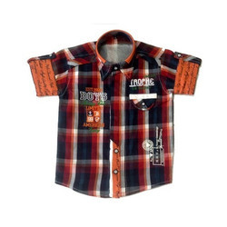 K Mark Garment Kids Designer Regular Wear Cotton Shirt