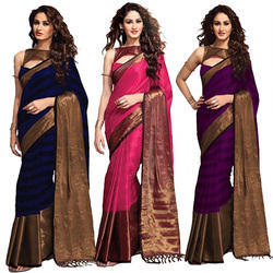 Pure Cotton Silk Pattu Saree
