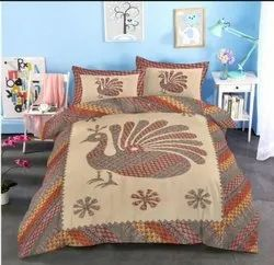 Barmeri Print Cotton King Size Bed Sheet with 2 Pillow Cover