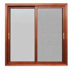 Modern Wooden Sliding Window for Home