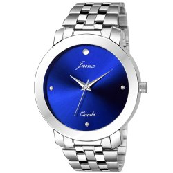Blue Dial Men Wrist Watch
